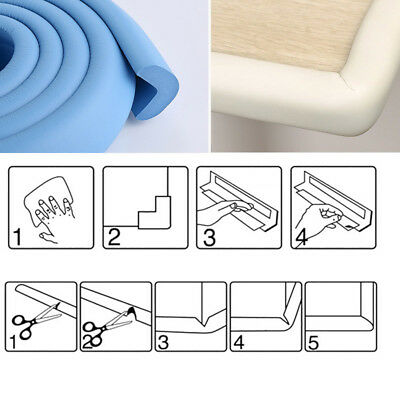 2M Desk Edge Soft Protectors Table Corner Cushion Baby Child Safety Guard Foam