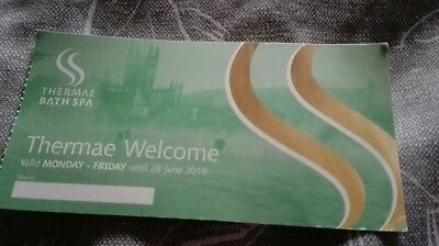 Thermae Bath Spa voucher RRP£36