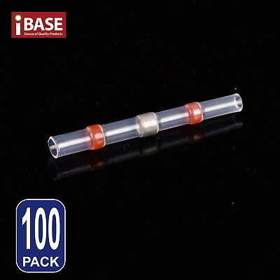 100x Solder Splice Connectors Heat Shrink Sleeve Seal Wire Insulated Red