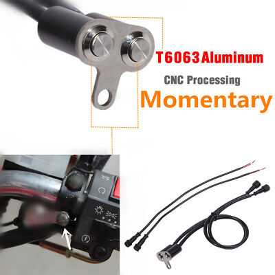 CNC Dual Momentary Motorcycle Switch Push Button Screw Mount f/ LED Engine Start