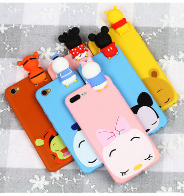 For iPhone 5 6 7 8 X XR XS Max Hot 3D Doll Cartoon Cute Soft Silicone Case Cover