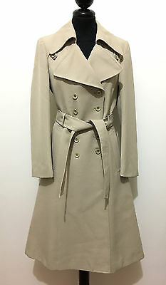 CULT VINTAGE '70 Cappotto Trench Donna Lana Wool Woman Rain Coat Sz.XS - 38