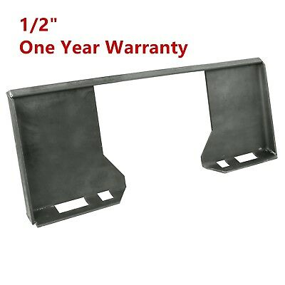 """HD 1/2"""" thick Steel Quick Tach Attachment Mount Plate Skid steer Adapter Bobcat"""