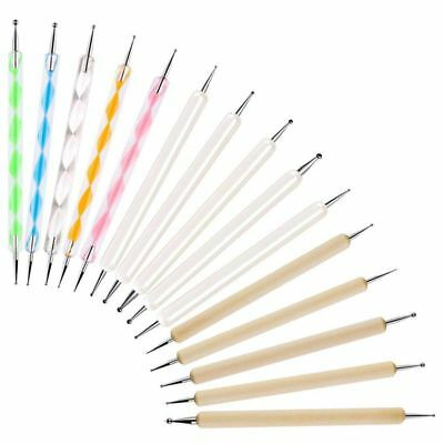 15 Pcs Dotting Tools Set, Ball Stylus Embossing Pattern Clay Sculpting Car X8E4