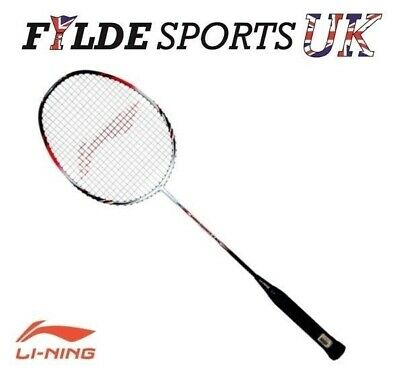 Li-Ning A800 Strung Badminton Racket Black/White - CLEARANCE