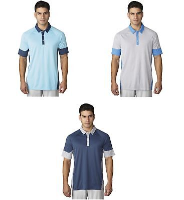 Adidas Climachill Print Block Polo Mens Golf Shirt - New
