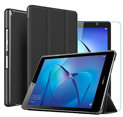 For Huawei MediaPad T3 8.0 Smart Book Case Stand Cover & Glass Screen Protector