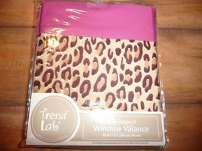 NEW Trend Lab Berry Leopard Window Valance New Very Nice NWT nursery/girls