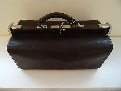 antique leather bag - Antike Koffertasche grosse Ledertasche Koffer Arzt Tasche