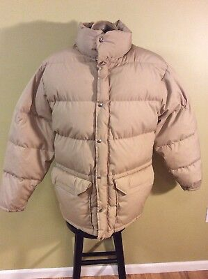 Vintage 70s The North Face Parka Coat Men's Down Puffer Jacket Tan Brown XL