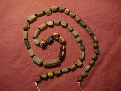 Ancient Fragment Glass Beads Strand Roman 200 BC  #5058