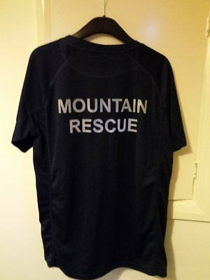 Bespoke Mountain Rescue wicking t-shirt reflective text, G4H Rescue Clothing
