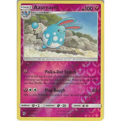 POKEMON SUN /& MOONLOST THUNDER 136//214 Azumarill