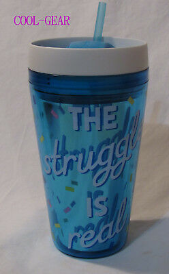 Cool-Gear Double Wall Insulated Tumbler Hot Cold 20 oz mug THE STRUGGLE IS REAL