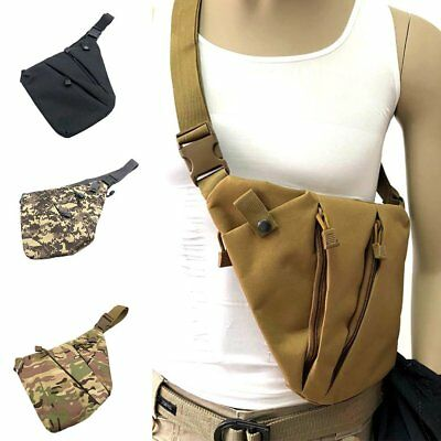 Casual Outdoor Multi-function Camouflage Nylon Men Shoulder Chest Pack Waist Bag