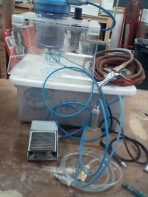 SCM  sand blaster and engraver/etching with air compressor and air nozzels