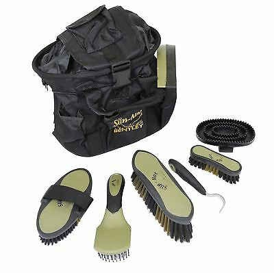 Bentley Equestrian Deluxe Grooming Kit in Black and Gold  FREE NEXT DAY DELIVERY