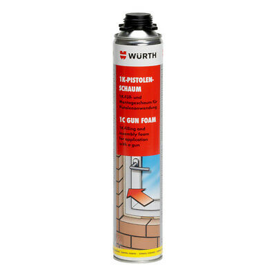 Wurth Gun Grade Expanding Foam 750Ml - Foam Filler - Insulation Foam