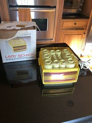 Vtg LADY SCHICK LASTING CURLS 26 HOT STEAM MIST ROLLERS CURLERS 75-1 USA