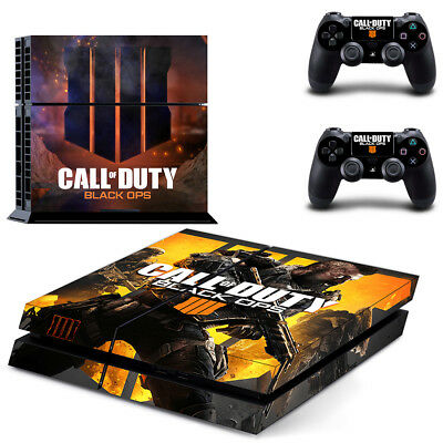 PS4 Skin Sticker Vinyl Decal for Console 2 Controllers Call of Duty Black Ops 4