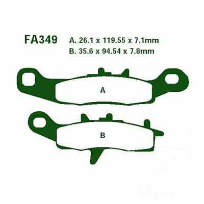Brake Pads Sintered R EBC Fa349R For Kawasaki KFX 450 R KSF 2008 - 2014