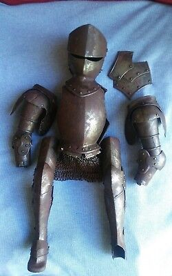 ANTIQUE 1800s SUIT OF ARMOR FOR MARIONETTE PUPPET KNIGHT ITALIAN