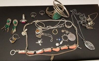 183 Grams Sterling Silver Jewelry Scrap Lot 925 Some Stones