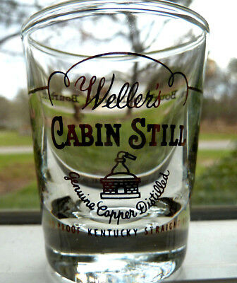 Vintage Weller's Cabin Still Shot Glass The Bourbon Man's Bourbon Stitzel-Weller