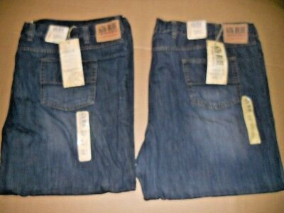 2 pairs BRAND NEW Mens 626 Denim blue jeans Relaxed Fit BIG & TALL Sz- 56 x 30