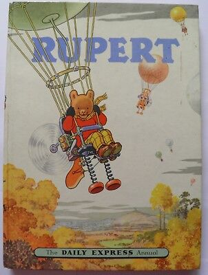 Rupert Annual 1957 illustrated Alfred Bestall Daily Express Vintage
