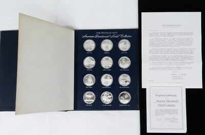 Franklin Mint American Bicentennial 1976 Collection 12 Sterling Silver Medals