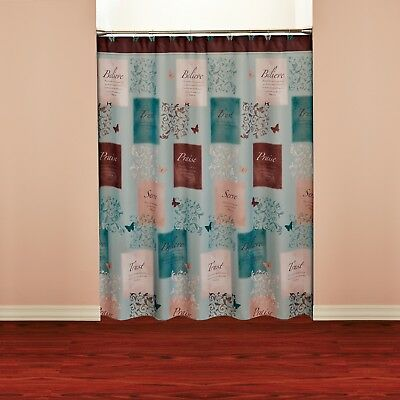 Mainstays Butterfly Blessings Shower Curtain