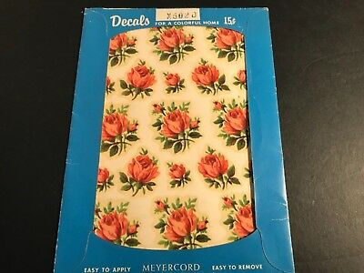 Vintage Meyercord Decal Charming Small Roses Real Shabby Chic New Old Stock