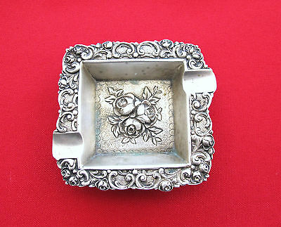 Ashtray Antique European 800 silver ashtray (#205)