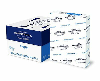 Hammermill Paper, Copy Paper, 8.5 x 11, 1500 Sheets/3 Ream Case FREE SHIPPING!!!
