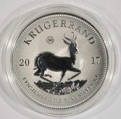 2017 1 oz Silver Krugerrand 50th Anniversary Privy Premium Uncirculated BU