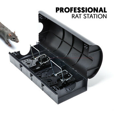 Rat Bait Station Tunnel Box Holds Snap Trap or Poison Block Grain Pasta for Rats
