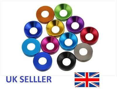 Aluminum Alloy M5 M6 Coloured Anodized Countersunk Head Bolt Washers pack of 10