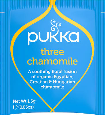 Pukka Herbal Organic Teas Tea Sachets - Three Chamomile (20 Sachets)