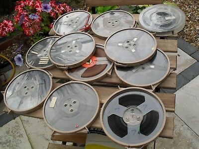 """vintage reel to reel R2R  tapes x 10 tapes 7"""" used tapes unknown content"""