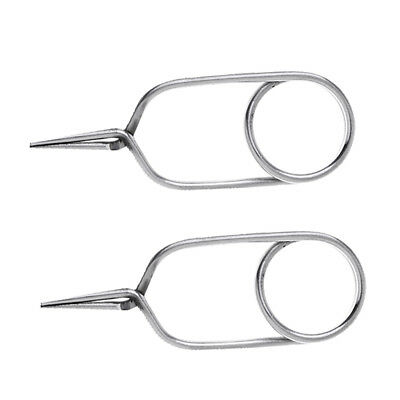 Stainless Steel Fly Tying Hackles Pliers,Fly Fishing Tying Material Tools
