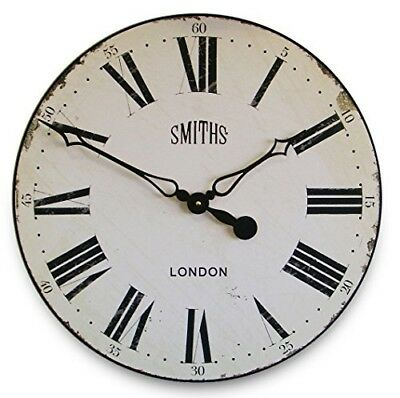 Smith's White Wall Clock - 50cm