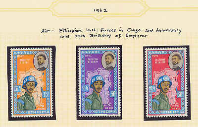 Ethiopia Stamps 1962-1964, 4 Pages Mnh Sets Incs Spiritual Leaders, Princess Vf
