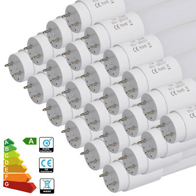 25pcs 24W T8 4FT LED Tube Light Replacement Fluorescent Day White Energy Saving