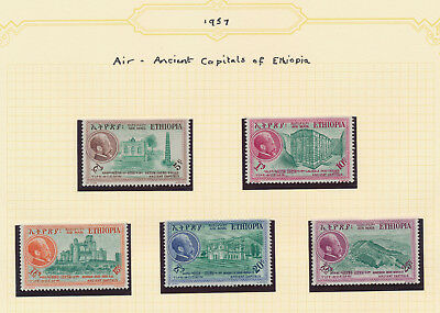 Ethiopia Stamps 1957-1960 Collection, 5 Pages, Mnh & Mh Incs Air Addis Ababa Vf