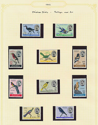 Ethiopia Stamps 1962 Birds And Airmail Sets Beautiful Mnh Xf