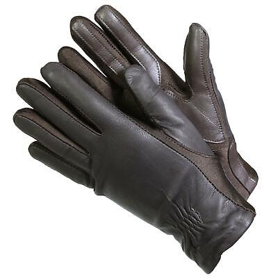 Isotoner 40262 Women's Leather SmarTouch Touchscreen Gloves Brown S/M