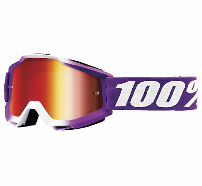 100% Accuri Snow Goggles Size Framboise w/Red Lens