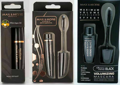 Max & More Mascara Black Argan Oil Keratin 15ml Sealed BUY 1 GET 1 20% OFF