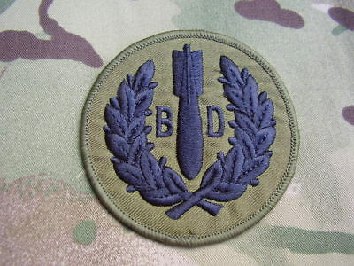 Royal Air Force RAF 5131 Bomb Disposal Sqn Military Combat Jacket OG Patch/Badge